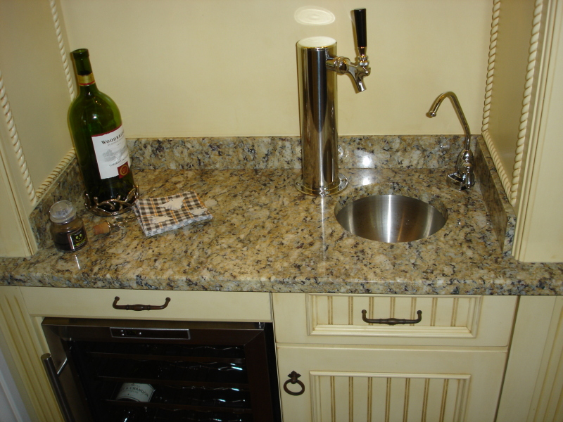 Custom Wet Bar Sink Beer Tap