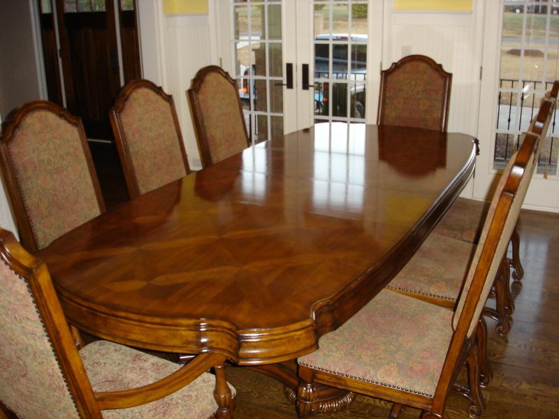 High Gloss Polished Oak Table