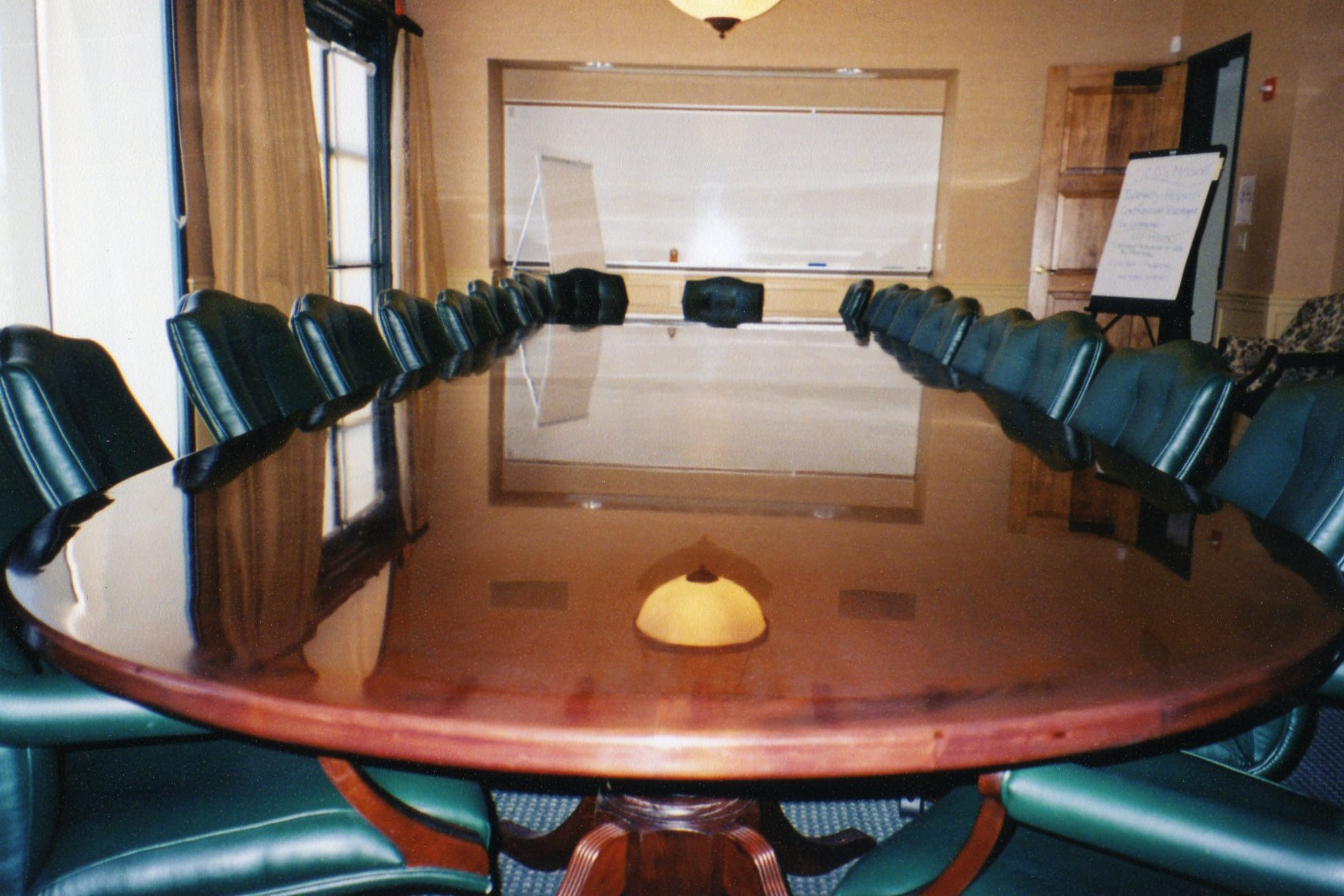 Hand Rubbed Finish On Conference Table