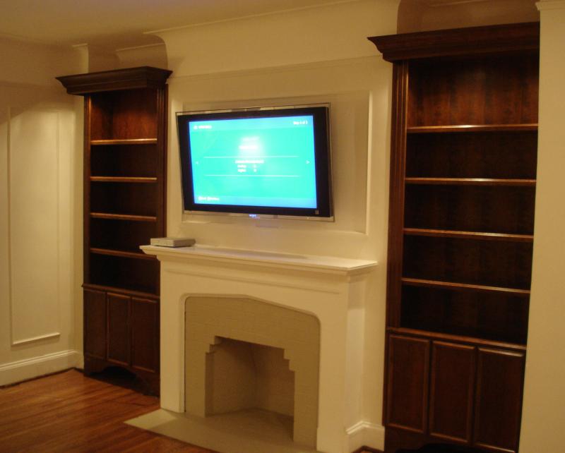 fireplace bookshelves - Bookshelves Next To Fireplace